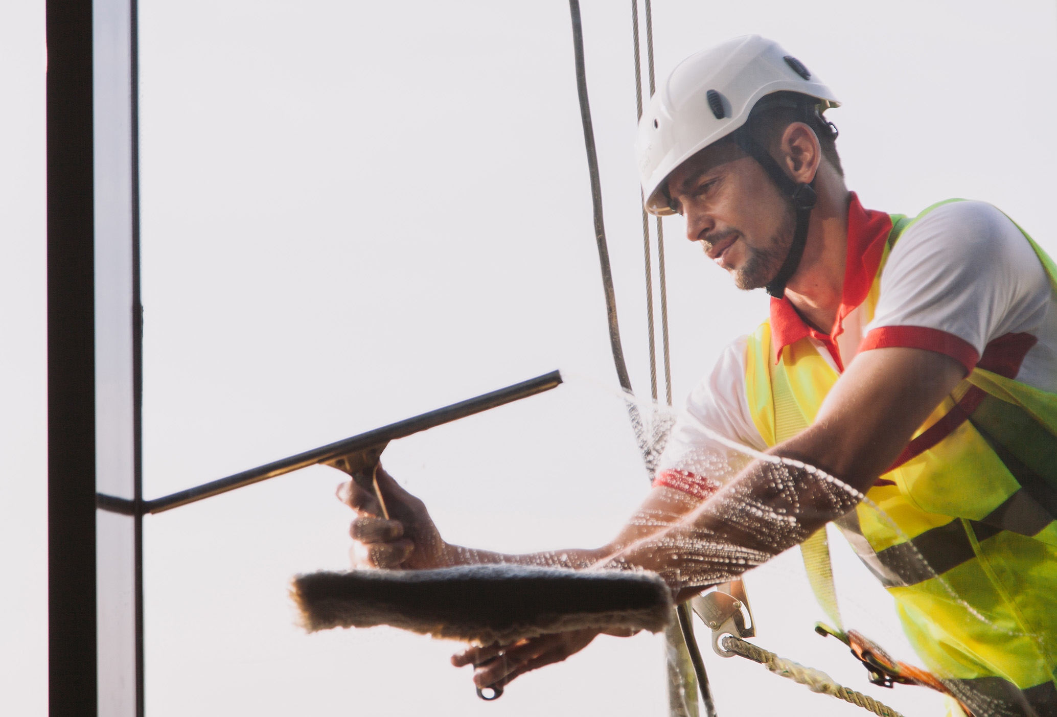 Work as Window cleaner